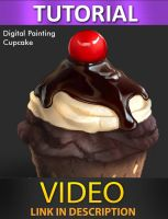 How to paint a cupcake by JesusAConde
