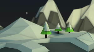 Snowy Mountains (Low Poly) by OzerSoft