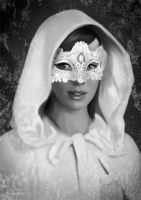Woman in mask by MartaDeWinter