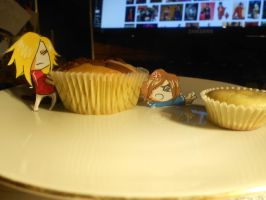 Fighting for the Muffin by HayleyFeatRuki