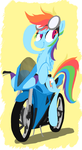 On the move - Rainbow Dash by AliasForRent