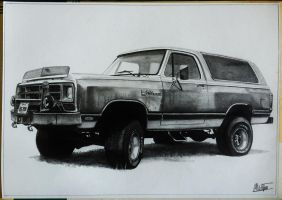 Dodge Ram Charger 84' drawing by alainmi