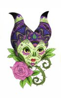 Sugar skull Maleficent by s2kitty