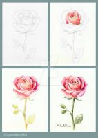 Pink rose tutorial by AnnaFromTheTrain