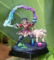 Corim, Gnome Sorcerer and Pup by AnneCooper