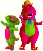 Barney and Baby Bop In Farm Clothes by BestBarneyFan