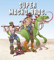 Super Macho Bros by methodmonkey