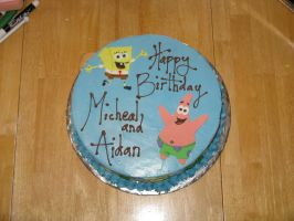 Sponge Bob cake- top view by Sumrlove