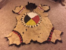 Painted Black Bear robe Native American by CherokeeSpirits