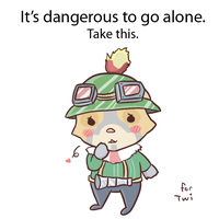 it's dangerous to go alone by Ririki