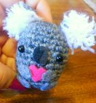 Wee Lil Koala Spuds Stitches Pocket Amigurumi by Spudsstitches