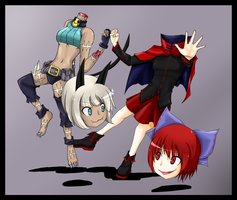 Touhou Skullgirls Crossover by Babero