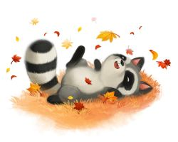Racoon by Miss-Rabbit
