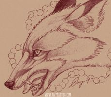 Fox with Pearls by Tribalistic