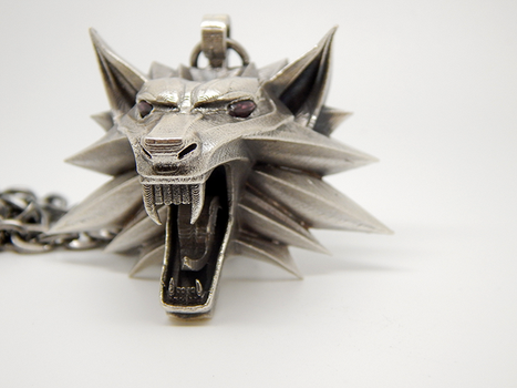 Witcher-medallion-silver-006 by BloodCountessKTD