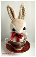 Bramble - Teacup Bunny - SOLD by tiny-tea-party