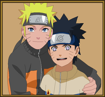 Naruto and his son, Minari Uzumaki by airbender01