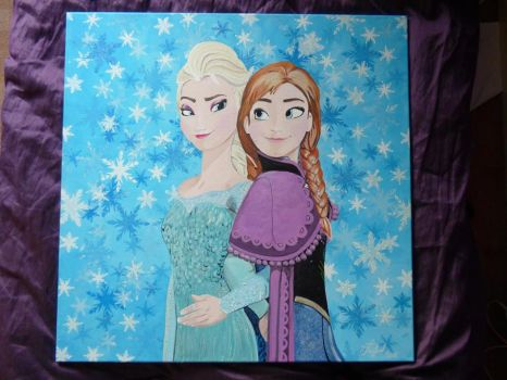 Frozen, Elsa and Anna by The-Welsh-Wolf