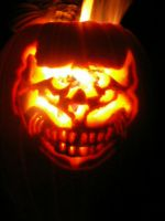 Cheshire Pumpkin Carving by kitkatluv3r