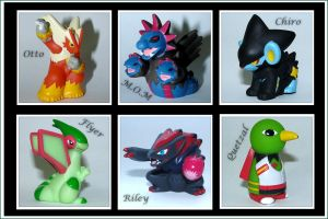 My pokemon dream team (Figures) by Ilona-the-Sinister