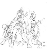 When Zombie Ninjas Attack by theopticnerve