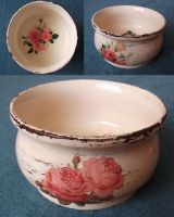 Bowl with roses by pinterzsu