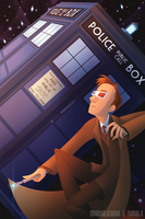 The Doctor and his TARDIS by SMachajewski