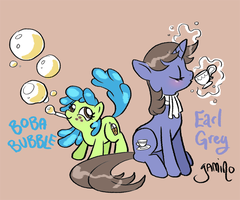 Boba Bubble and Earl Grey by Yamino