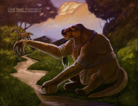 Rare Calendar 2011 Giant Sloth by CharReed