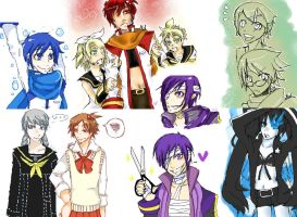 Iscribble doodle dump by Velpi
