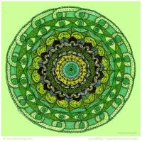 Old Green Eyes Mandala by Quaddles-Roost