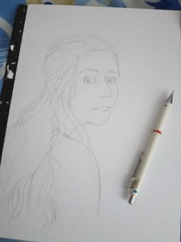 Daenarys Stormborn - Fanart: work in progress by SleepyMask
