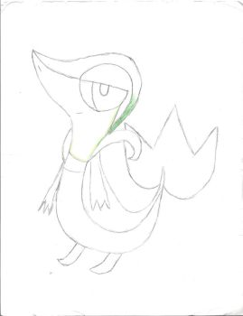 2012 Snivy Drawing (unfinished) by Crazeddude4000