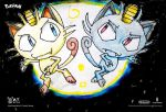 Meowth Vs Alola Meowth Drawing by MrATAndreiThomas