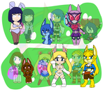 Assorted Chibis - Bunny Bunny by Dragon-FangX