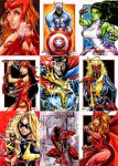 Marvel Avengers sketch cards by Axebone