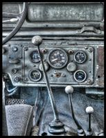 Old Jeep Interior by Drchristophers