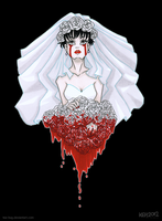 Bloody Bride by tea-bug