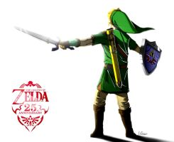 Zelda 25th Anniversary - Link Skyward Sword by legendarysmith