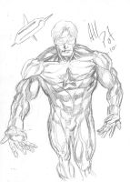 Booster Gold quick sketch by AllPat