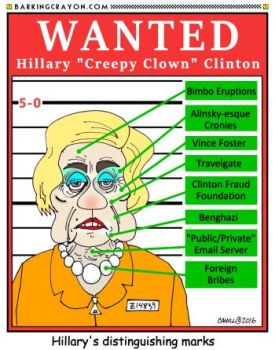 Creepy Clown Clinton by Conservatoons