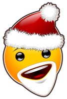 Little Santa Smiley ... only polygon tool by mondspeer