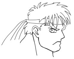 Ryu from SF2 Coloring Page by HowToDrawManga3D
