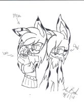 Leo's Mom and Dad -sketch- by laurenbaker0508