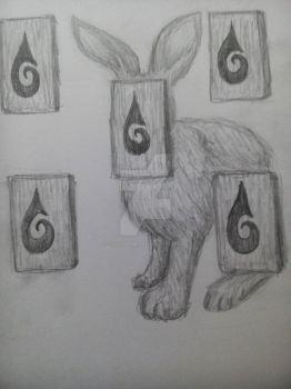 Five-Eyed Rabbit by chaosmembrane