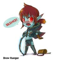 Drow Ranger - Silence by Chewyee