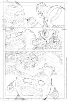 Green Lantern animated  issue # 7 page 2 pencil by DarioBrizuelaArtwork