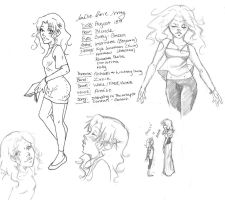 Amelie Ref Sheet. by LadyLadyington