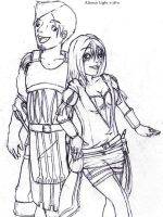 Blacksmith and the Courtesan by Holographic-Neku