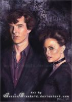 Sherlock and Irene by AuroraWienhold